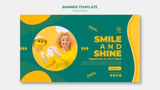 배너 디자인을위한 포지티브 템플릿 무료 PSD 파일