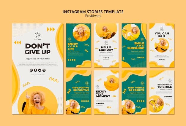 Instagram 이야기를위한 포지티브주의 템플릿 프리미엄 PSD 파일