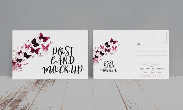 Postcard & invitation mock-up Premium Psd