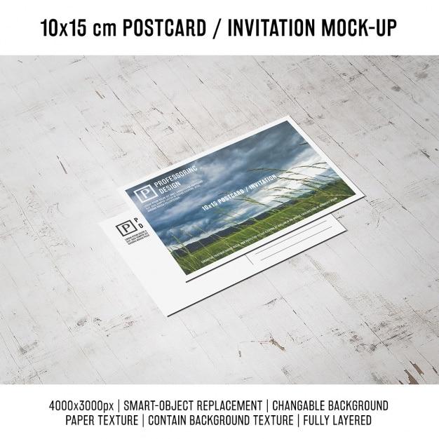 Postcard mock up design Free Psd