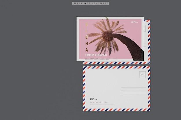 봉투와 엽서 이랑 프리미엄 PSD 파일