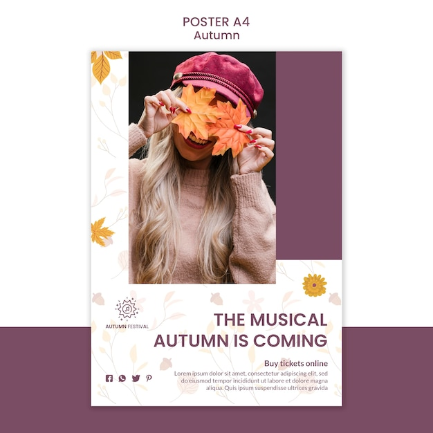 Poster for autumn concert Free Psd