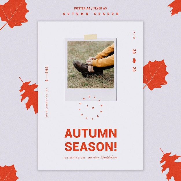 Poster for autumn new clothing collection Free Psd