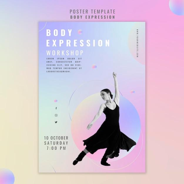 Poster per workshop sull'espressione corporea Psd Gratuite