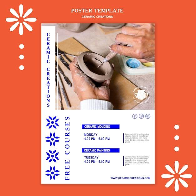 Poster ceramic creations template Premium Psd