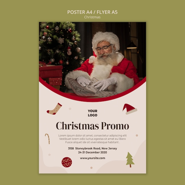 Poster for christmas shopping sale Free Psd