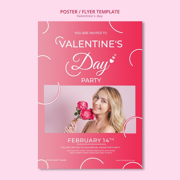 Poster concept for valentines day template Free Psd