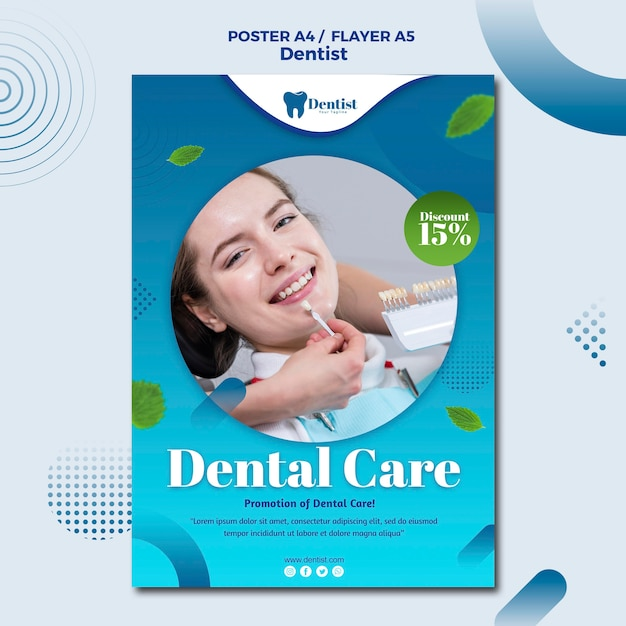 Poster for dental care Free Psd