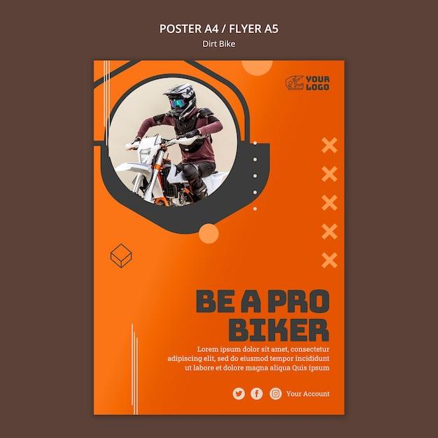 ポスターダートバイクの広告テンプレート 無料 Psd