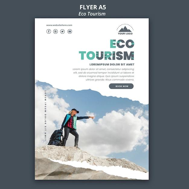 Poster eco tourism template Free Psd