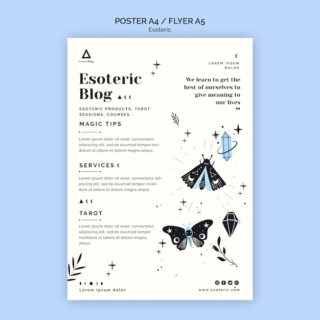 Poster for esoteric blog Free Psd