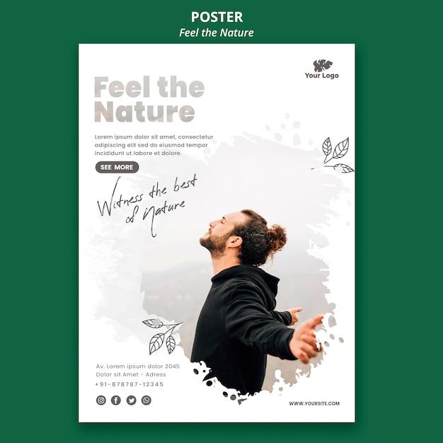 포스터 느낌 자연 템플릿 무료 PSD 파일