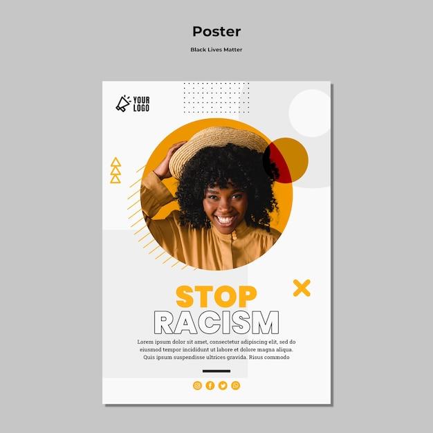 黒人生活のためのポスター 無料 Psd