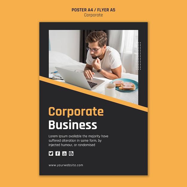 기업 비즈니스 포스터 무료 PSD 파일