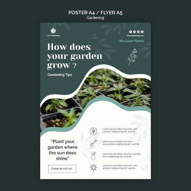Плакат для садоводства Бесплатные Psd