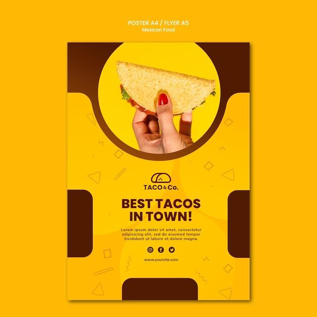 メキシコ料理レストランのポスター 無料 Psd