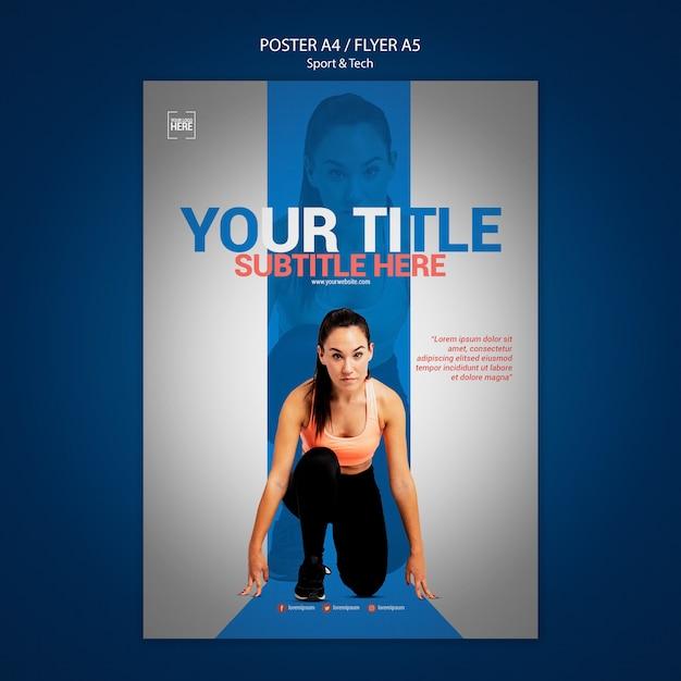 스포츠 및 기술 포스터 무료 PSD 파일