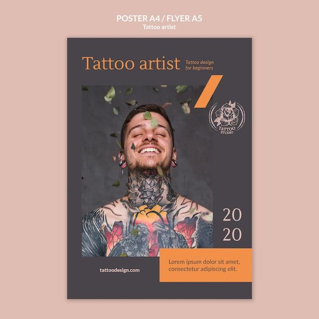 Плакат для татуировщика Бесплатные Psd