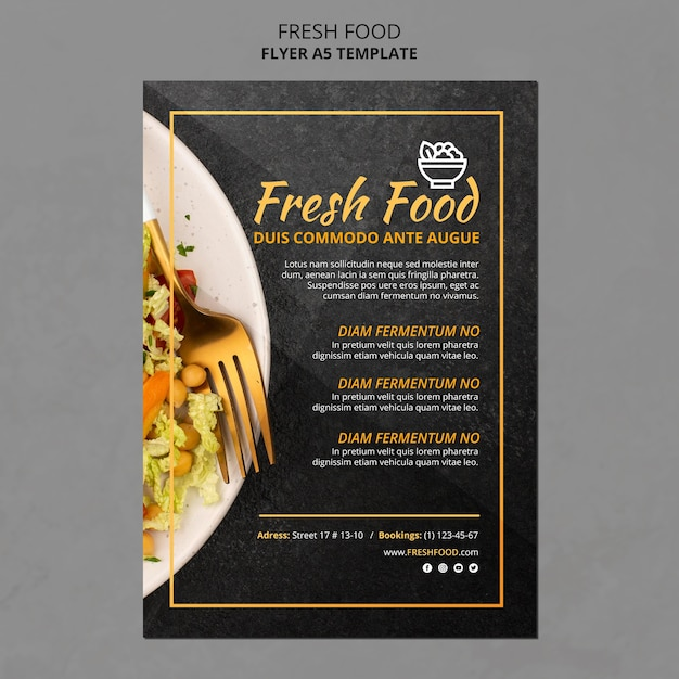 Poster fresh food ad template Free Psd