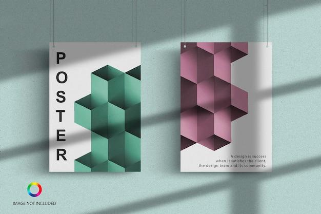 포스터 교수형 모형 디자인 렌더링 프리미엄 PSD 파일