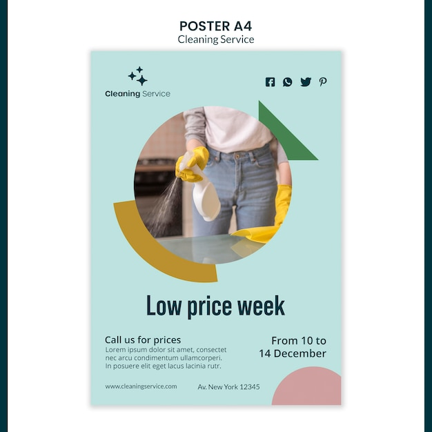 Poster for house cleaning company Free Psd