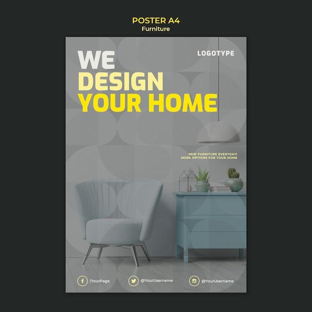 Free Psd Poster For Interior Design Company
