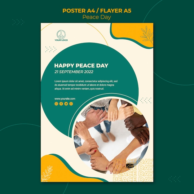 Poster per la giornata internazionale della pace Psd Gratuite