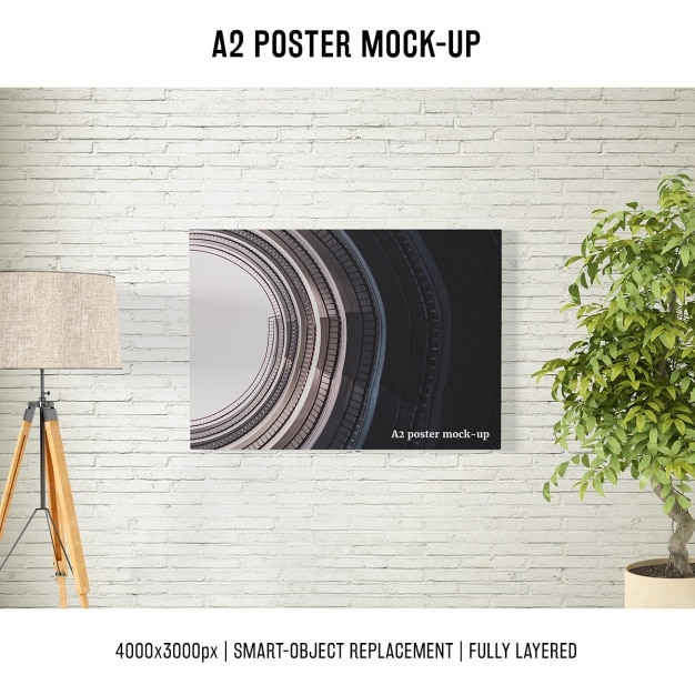 Poster mock up template Free Psd