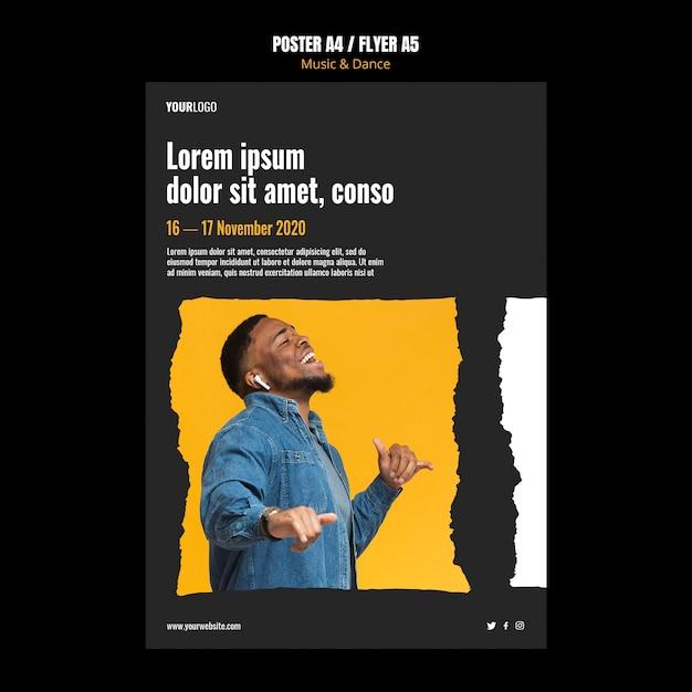 포스터 음악 및 댄스 이벤트 광고 템플릿 무료 PSD 파일