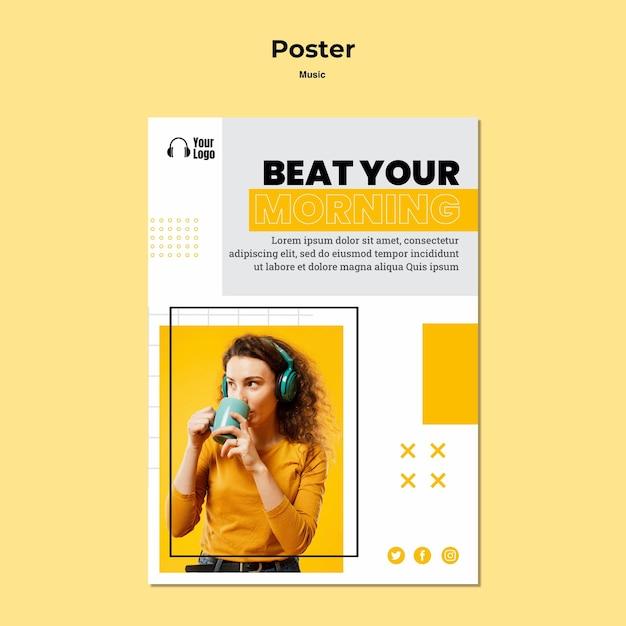 Free PSD | Poster music platform template