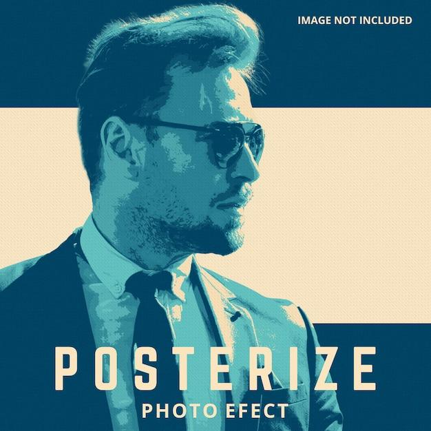 Poster photo effect template Premium Psd