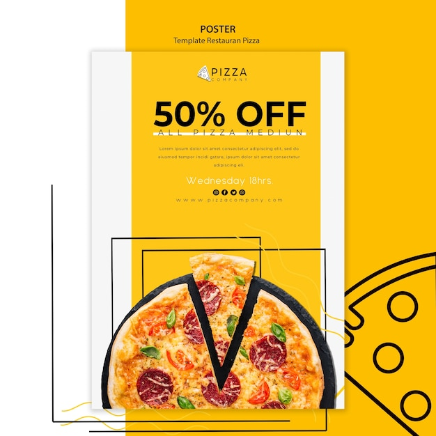 Poster for pizza restaurant Free Psd