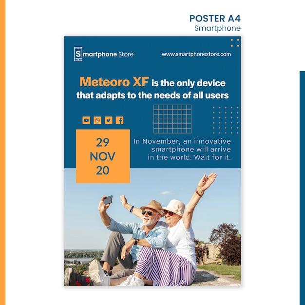 포스터 smarphone 스토어 광고 템플릿 무료 PSD 파일