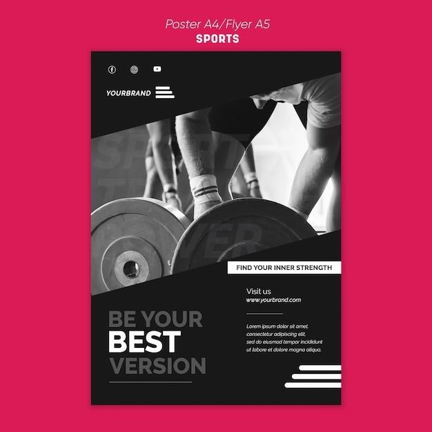 포스터 스포츠 광고 템플릿 무료 PSD 파일