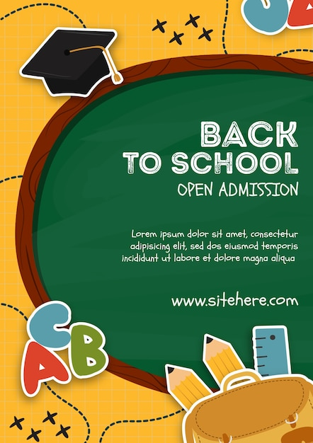 Poster template for back to school event Free Psd
