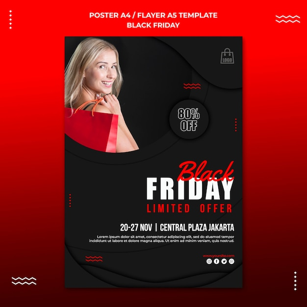 Poster template for black friday sale Premium Psd
