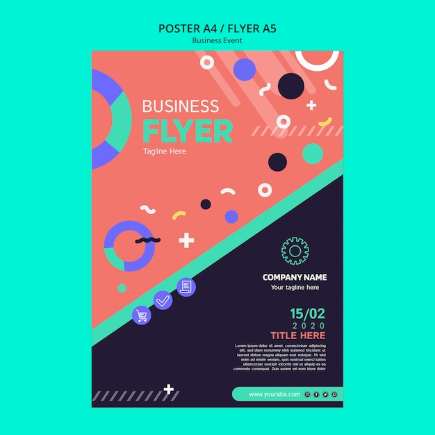 Poster template for business event Free Psd
