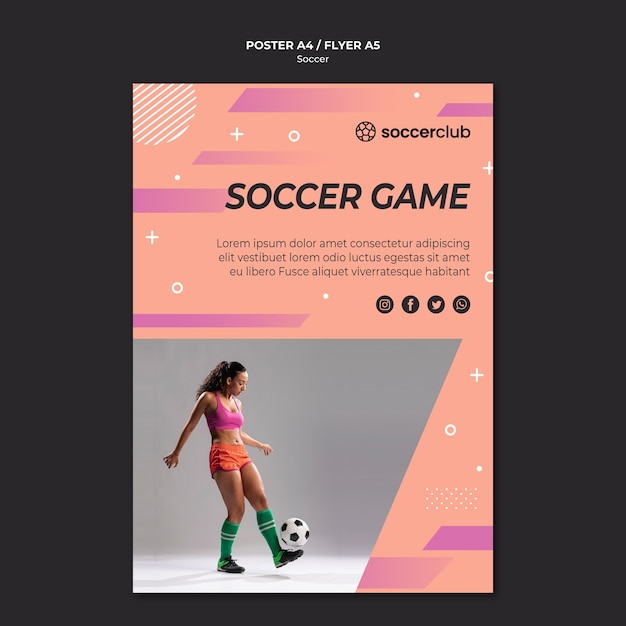 Poster template for football | Free PSD File