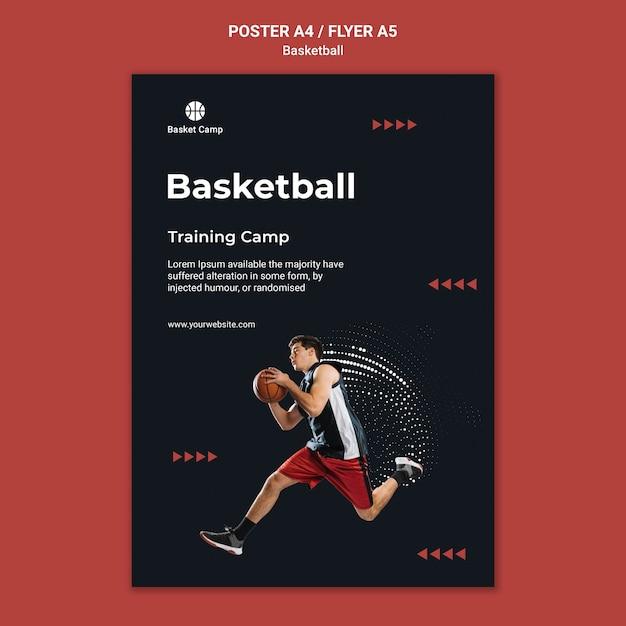 농구 훈련 캠프 포스터 템플릿 무료 PSD 파일
