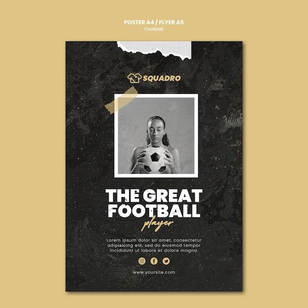 Шаблон плаката для футболиста Бесплатные Psd