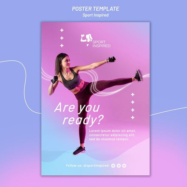 체력 훈련을위한 포스터 템플릿 무료 PSD 파일