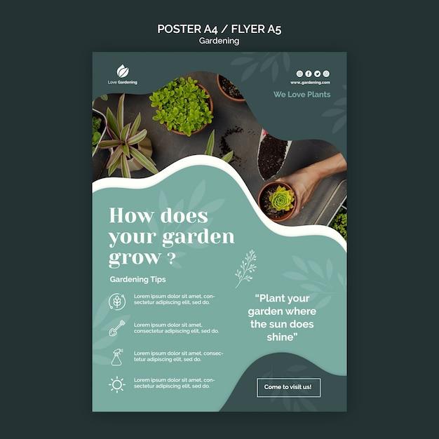 Шаблон плаката для садоводства Бесплатные Psd