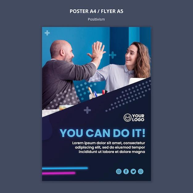 Шаблон постера для оптимизма и позитивизма Бесплатные Psd