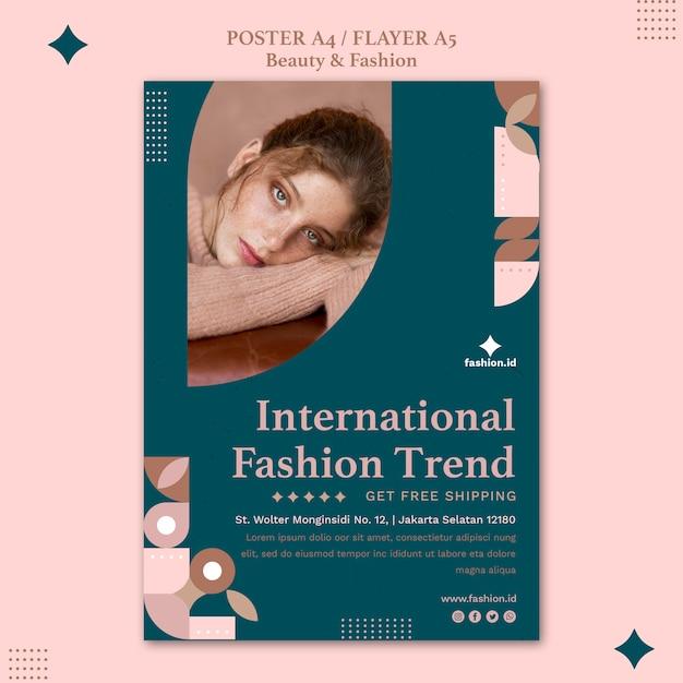 여성의 아름다움과 패션을위한 포스터 템플릿 무료 PSD 파일