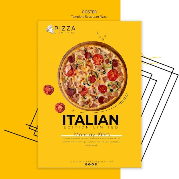 Poster template for pizza restaurant Premium Psd