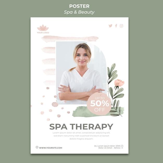 Modello di poster per spa e relax Psd Gratuite