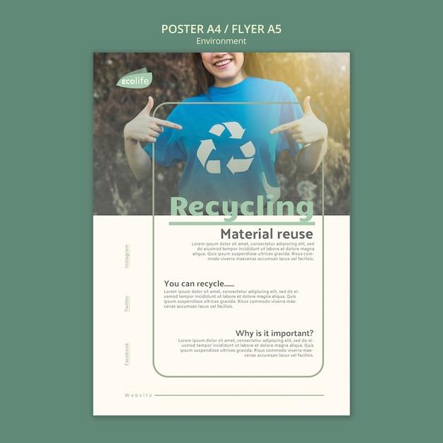 Шаблон постера с окружающей средой Бесплатные Psd