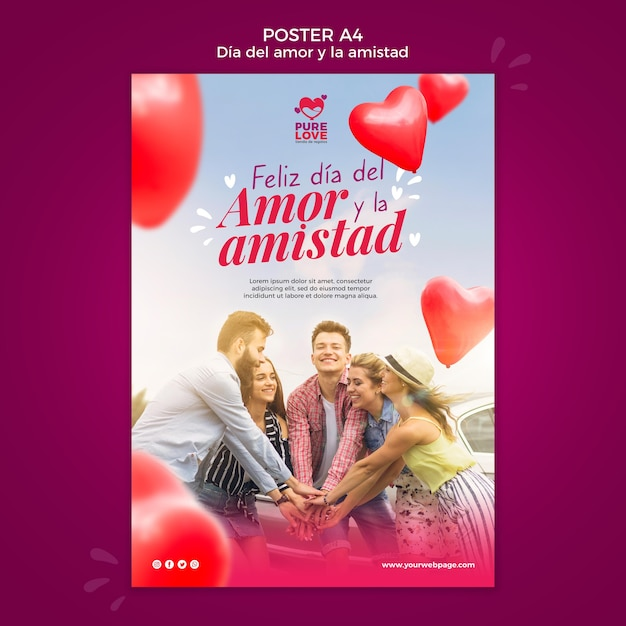 Poster for valentines day celebration Free Psd