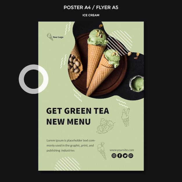Постер с мороженым Бесплатные Psd