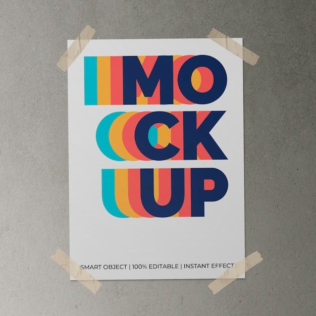 Плакат с лентой макет Бесплатные Psd